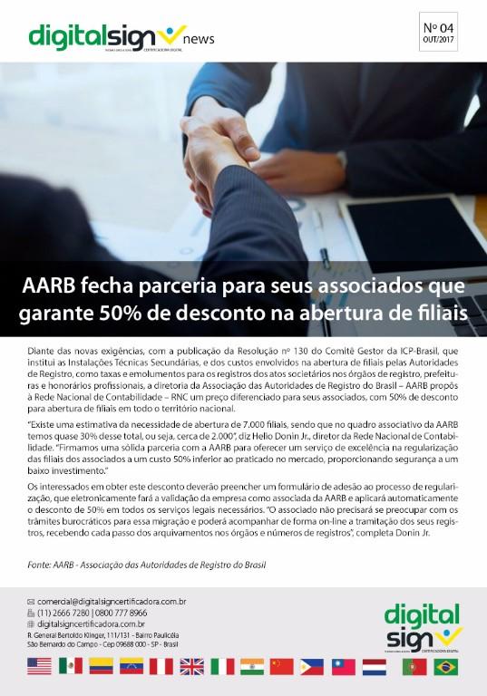 AARB fecha parceria para seus associados que garante 50% de desconto na abertura de filiais